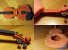 Violin in Full Color Sandstone