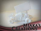 Sprint Car 1/43 Scale in White Strong & Flexible