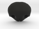 Dog nose - version 11 - 35mm wide in Black Strong & Flexible