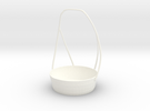 Detergent Cup Bucket in White Strong & Flexible Polished