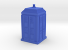 Tardis 04 HO Blue Plastic in Blue Strong & Flexible Polished