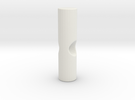 Umbrella rib tip 3mm plastic - 2.6mm metal in White Strong & Flexible