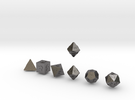 FUTURISTIC Outies Sharp dice in Polished Nickel Steel