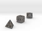 ANCIENT RELICS d4 d6 d8 in Polished Nickel Steel