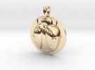 LADYBUG Symbol Jewelry Pendant in 14K Gold