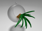 Air plant Christmas tree decoration in Frosted Ultra Detail