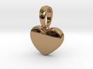Pendant Little Heart in Polished Brass