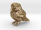 Owl Etta Gold Steel 6cm - Hollow 3mm in Polished Gold Steel