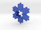 Koch Snowflake Ornament in Blue Strong & Flexible Polished