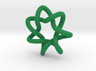 Ornament Torus Knot 7 -1 in Green Strong & Flexible Polished