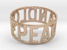Peaceandlove 78 Bracelet in 14k Rose Gold Plated
