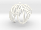 Poinsettia Ornament in White Strong & Flexible Polished