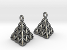 Flower Of Life Earrings in Polished Silver