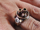 Retro movie camera Ring (size 8.5[US]) in Raw Brass