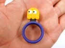 """Pac-Man """"Clyde"""" Ghost Ring in Full Color Sandstone"""