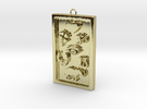 Rectangle Good Luck Pendant in 18k Gold Plated