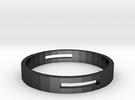 Engineering Ring in Polished Grey Steel