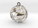 Craters of Phobos Pendant in Rhodium Plated