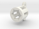 Cable Gland Holder 24mm in White Strong & Flexible