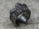 Alien FaceHugger ring SIZE 8 US in Matte Black Steel