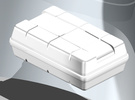 Life Raft square 1/25 (1 pc.) in White Strong & Flexible