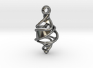 Entangled DNA Pendant in Premium Silver
