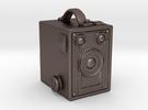 """""""Brownie"""" Kodac Camera Keyring/ Pendant in Stainless Steel"""
