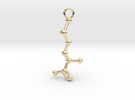 D-Methionine Molecule Necklace Earring in 14K Gold