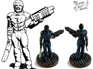 Henry Cobb: Trans-Universal Adventurer 28mm Miniat in White Strong & Flexible