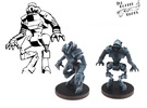 DARQ-9, 28mm Miniature in White Strong & Flexible