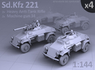 Sd.Kfz 221 (4 pack) in Frosted Ultra Detail
