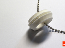 Bearing-ring (pendant) in White Strong & Flexible
