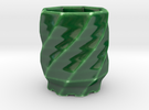 lucky 8 Sake shot glass 八 in Gloss Oribe Green Porcelain