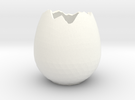 EggShell1 in White Strong & Flexible Polished