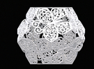 Buttefly Dodecahedron 03 in White Strong & Flexible