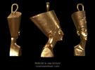 Nefertiti necklace pendant in Raw Bronze