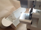 Singer Serger Storage Drawer in White Strong & Flexible Polished