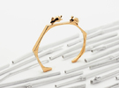 Chasing Rabbits Cuff Bracelet in Polished Bronze