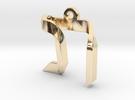 Reish + Nun = Taf in 14k Gold Plated