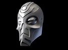 FOD-04-Fantasy Mask MOTU in White Acrylic