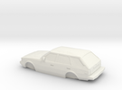 ho scale 1980-1983 toyota corolla wagon in White Strong & Flexible