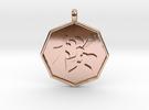 Sakura (Cherry Blossoms)   pendant in 14k Rose Gold Plated