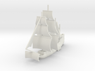 1/1000 Side-wheel Galleon in White Strong & Flexible