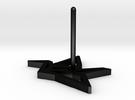 Earring Crane Right metal in Matte Black Steel