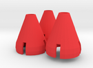 Gorilla Hands - 3 Cones in Red Strong & Flexible Polished