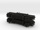 N.05B - A Set Waratah Trailer Chassis - Part B in Black Strong & Flexible