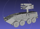 1/144 LAV-AD (Air Defense) in White Strong & Flexible