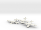 Grumman JRF-5 Goose (3 airplane set) 1/285 6mm in White Strong & Flexible