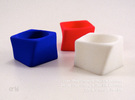 Twisted Cube - Ring - size56 - diam17,8mm in White Strong & Flexible