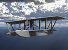 Donnet-Denhaut D.D.8 Flying Boat (Two-Seater) in White Strong & Flexible: 1:144